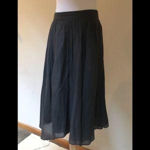 J. Crew double layer lightweight  cotton skirt